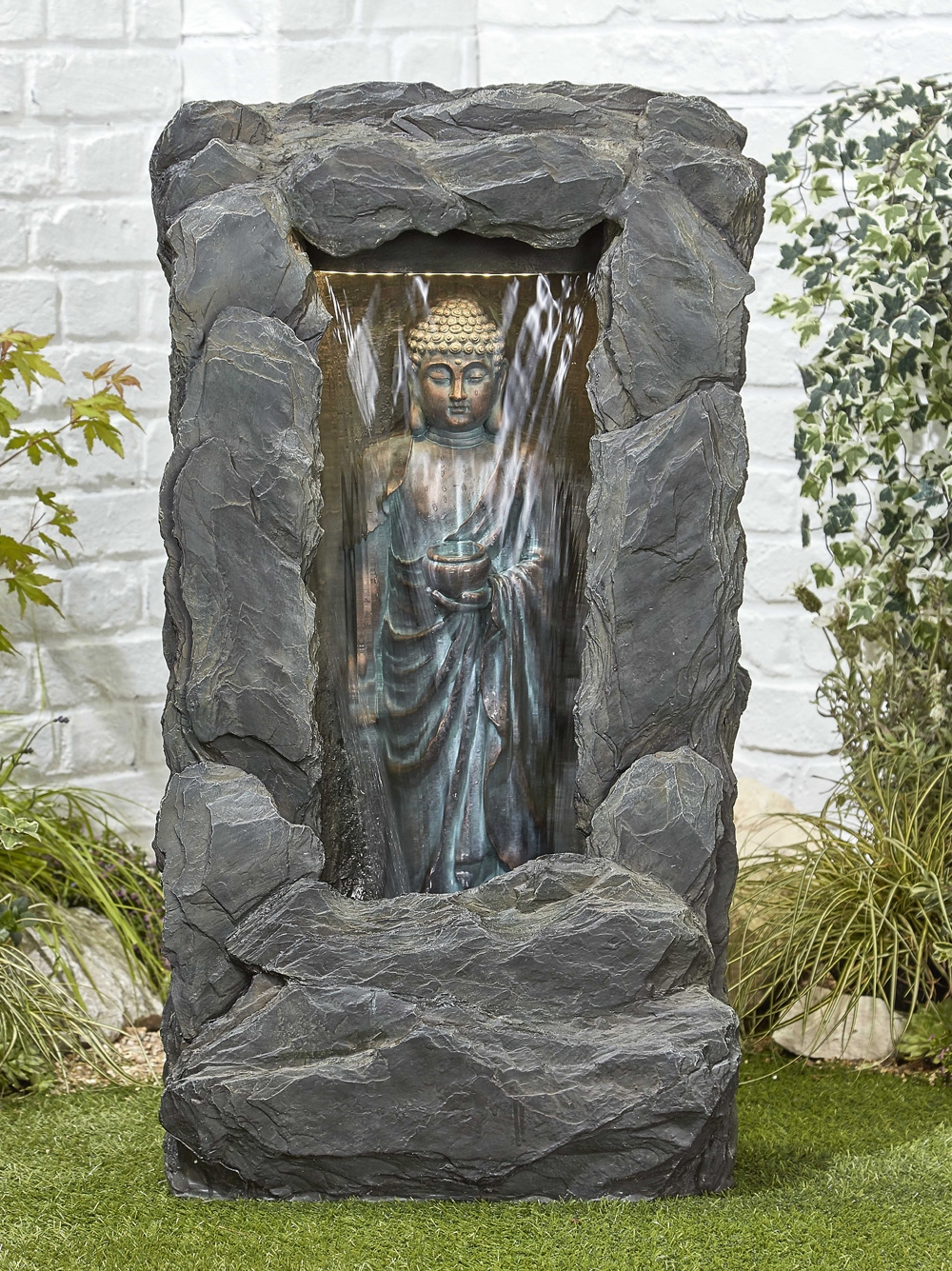 Buy Kelkay Cascading Buddha Water Feature With Led Lights