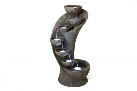 Seven Bowl Twist Water Feature