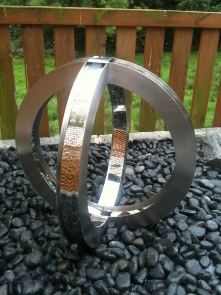 Orbita Stainless Steel Water Feature