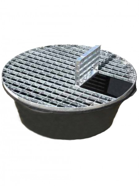Reinforced Heavy Duty Pebble Pool 112cm Diameter With Galvanised Steel Grid