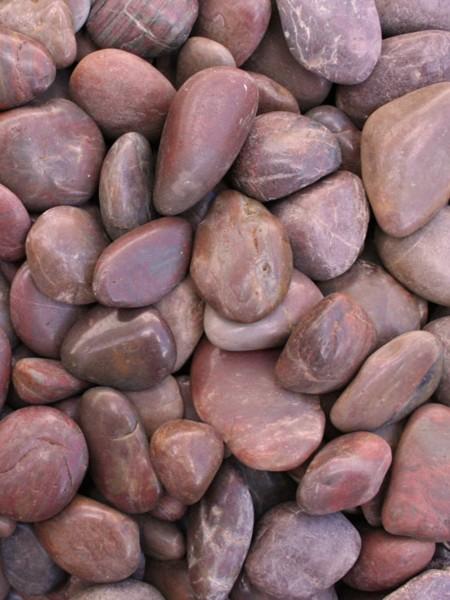 20kg Red Polished River Pebbles 20mm - 40mm