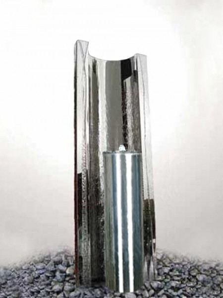 Serio Metallo by Aqua ModaSteel Water Feature with LED Lights