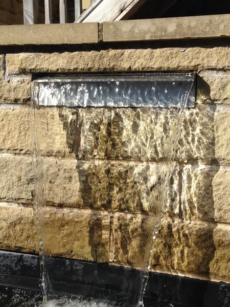 30cm Stainless Steel Water Blade Garden Water Cascade Kit Rear Or Bottom Entry