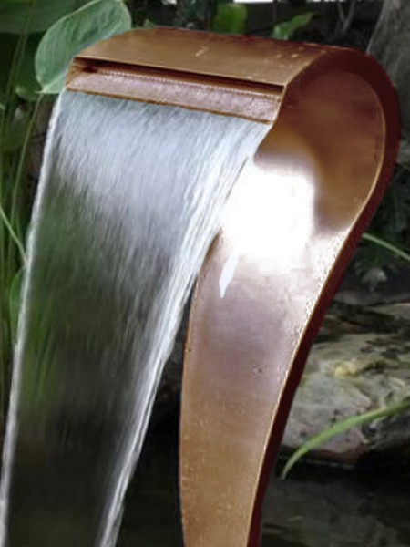 Corten Crostolo by Aqua Moda Water Feature With LEDS and Pebble Pool