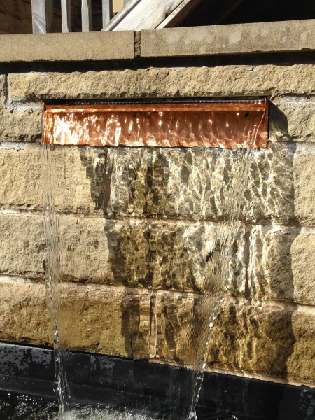 450mm Corten Steel Garden Water Cascade