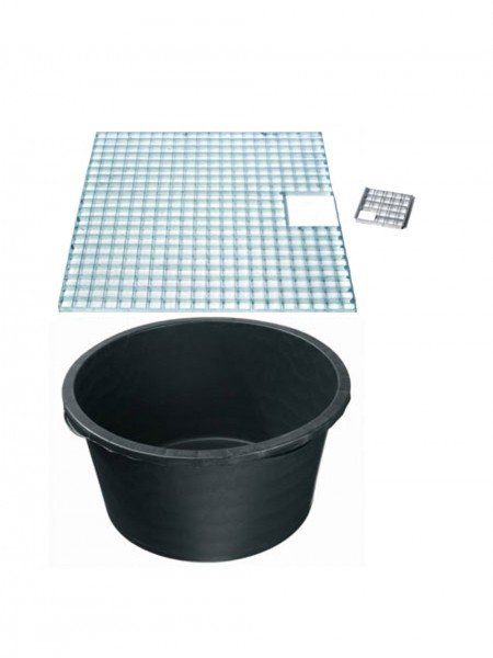 Reinforced Heavy Duty Pebble Pool 140cm Diameter With Galvanised Steel Grid