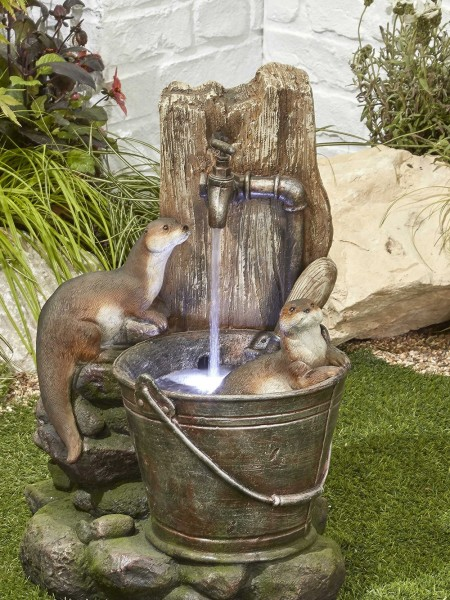 Playful Otters Water Feature