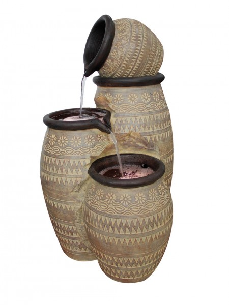 Mediterranean Pouring Bowls Water Feature