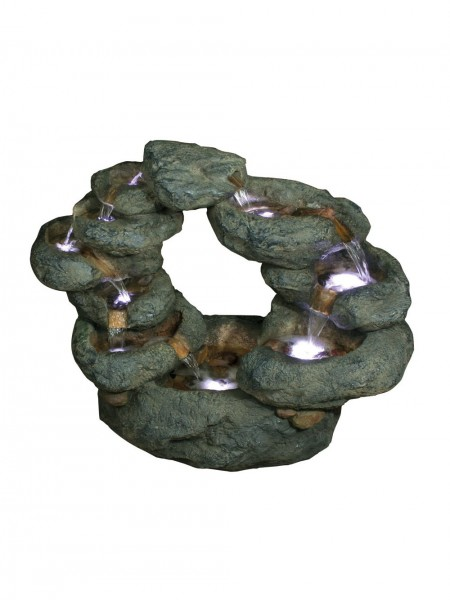Ten Fall Oval Rock Water Feature