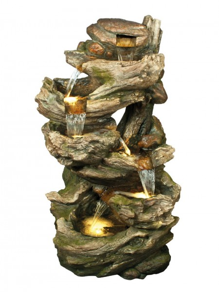 Large Six Fall Woodland Water Feature