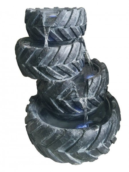 Four Stacked Tyres Water Feature