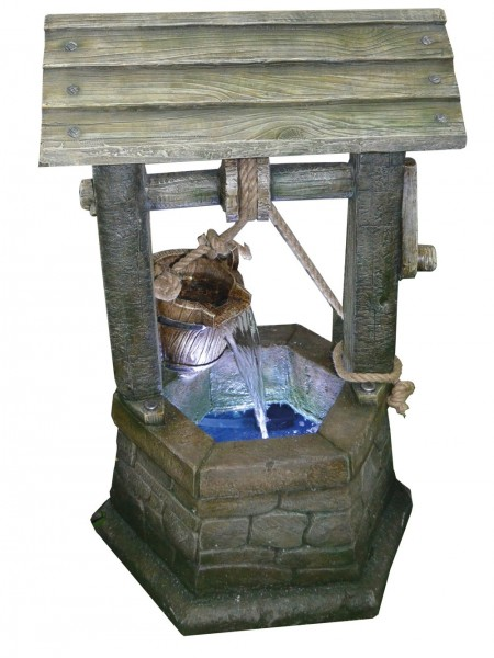 Medium Stone Wishing Well Water Feature