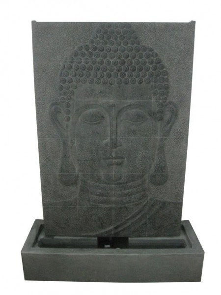 Large Grey Buddha Wall Water Feature
