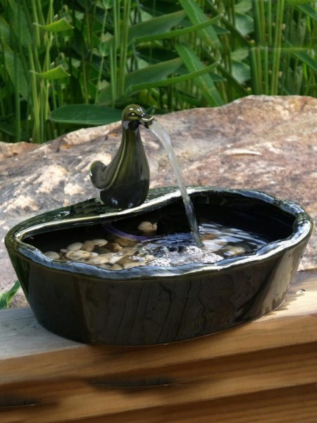 Duck Ornament For Ceramic Water Features