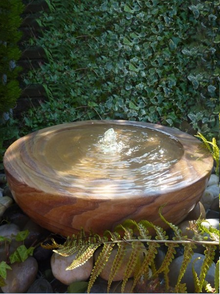 Large Rainbow Sandstone Babbling Bowl Water Feature