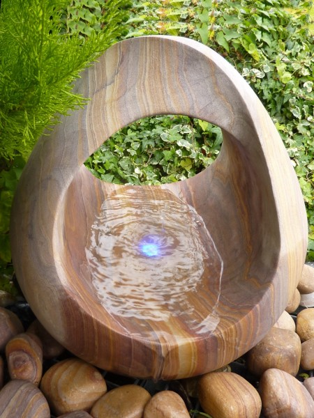 Rainbow Babbling Basket Water Feature