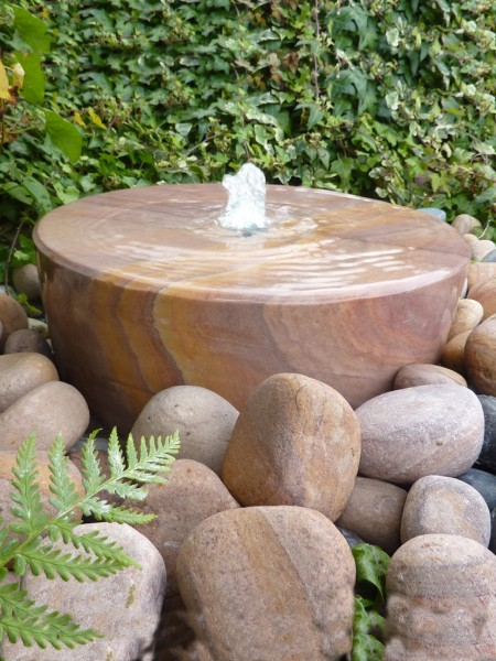 Large Rainbow Sandstone Mill Wheel Water Feature