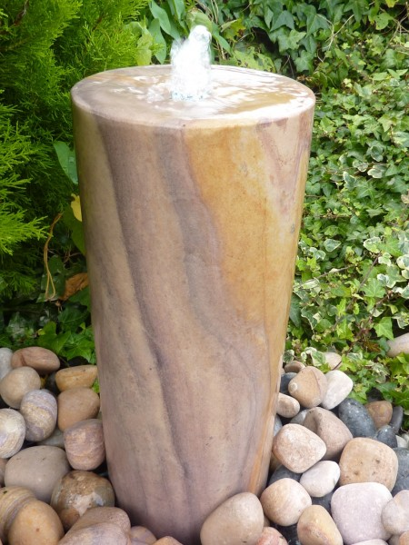 Large Rainbow Sandstone Column Water Feature