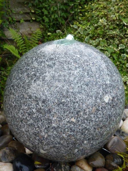 60cm Grey Granite Sphere Water Feature