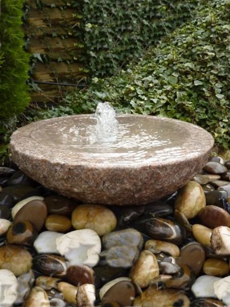 Pink Granite Babbling Bowl