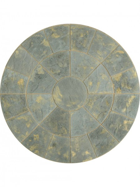 Abbey Patio Circle Kit 2.4m in Antique Borderstone