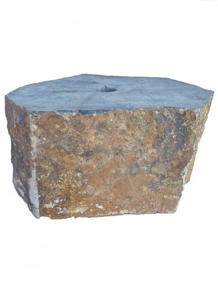 Drilled Basalt Plinth