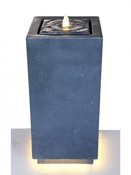 Black Bubbling Column Water Feature