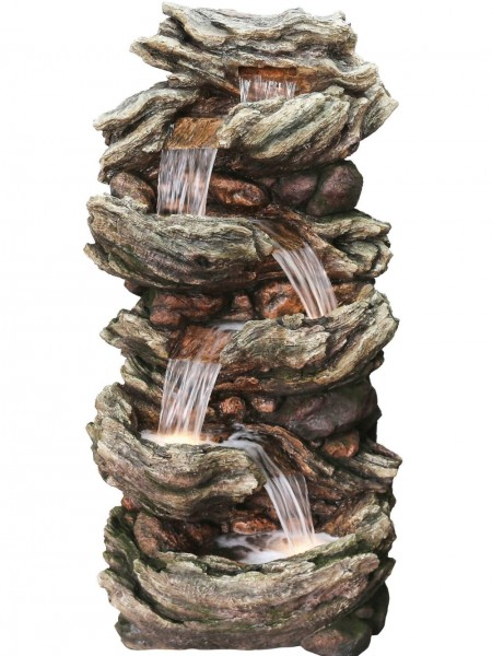 Extra Large Five Fall Woodland Water Feature