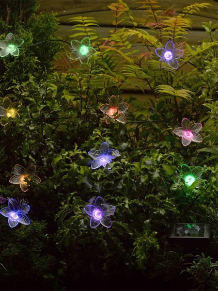 Fibre Optic Flower Light String