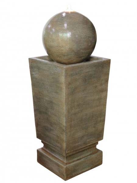 Franklin Sphere on Column Water Feature By Aqua Creations