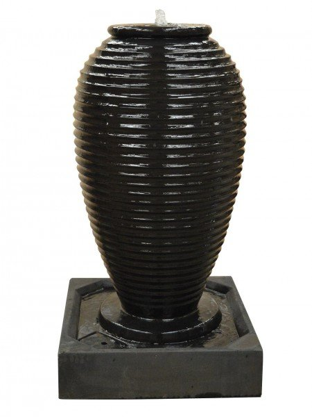 Ribbed Jar Fountain Water Feature