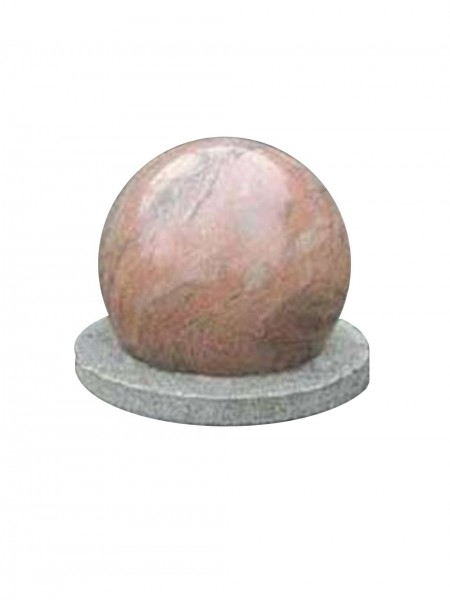 Rotating Granite Ball Water Feature on Modern Base Version Two