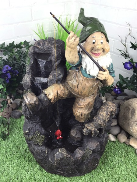 Fishing Gnome Water Feature