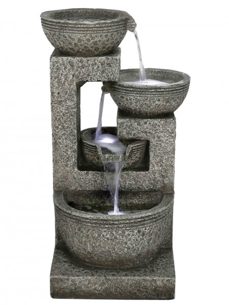 Large Grey Four Bowl Water Feature