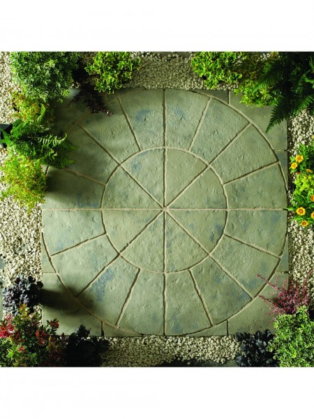 Minster Circle Paving Kit 1.8m & Squaring Off Kit in Rustic Sage