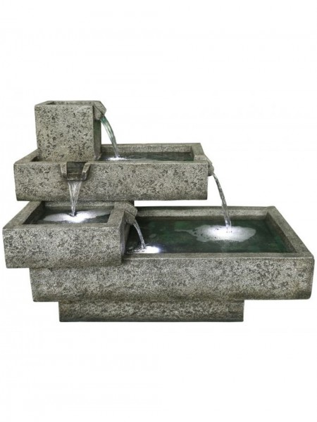 Oakland Stacked Troughs Water Feature by Aqua Creations