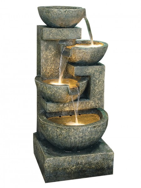 Large Granite Four Bowl Water Feature