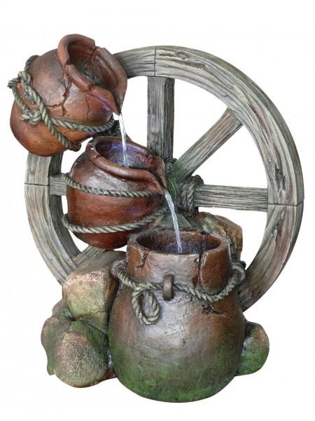 Three Urn Cartwheel Water Feature