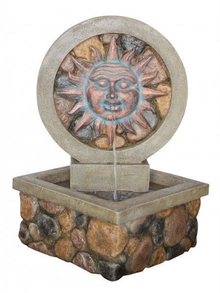 Sun Face Brick Effect Water Feature