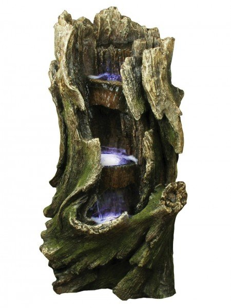 Three Level Tree Trunk Water Feature