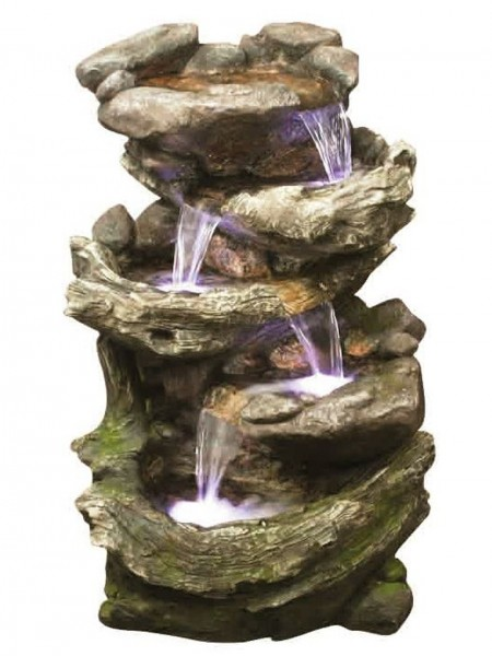 Rock & Wood Falls Water Feature