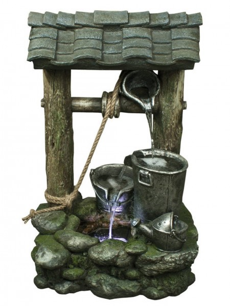 Three Bucket Wishing Well Water Feature