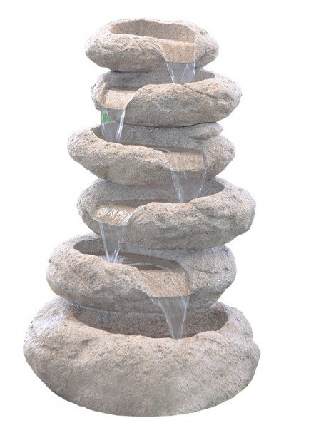 Six Tier Sandstone Boulder Water Feature