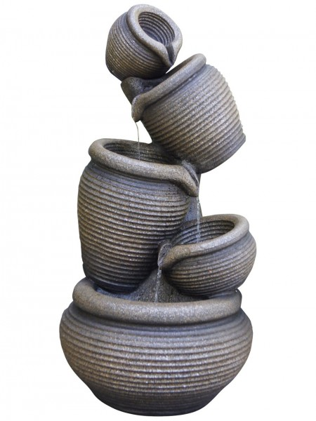 Five Tier Ribbed Pots Water Feature