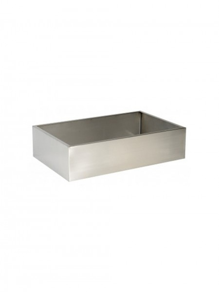 700mm x 400mm Rectangular Grade 304 Stainless Steel Base