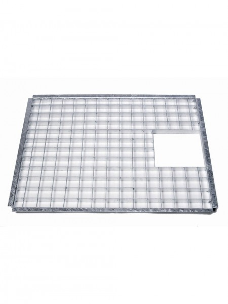 69.5cm x 34cm Rectangular Galvanised Steel Grid