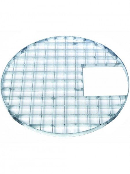 88cm Round Galvanised Steel Grid