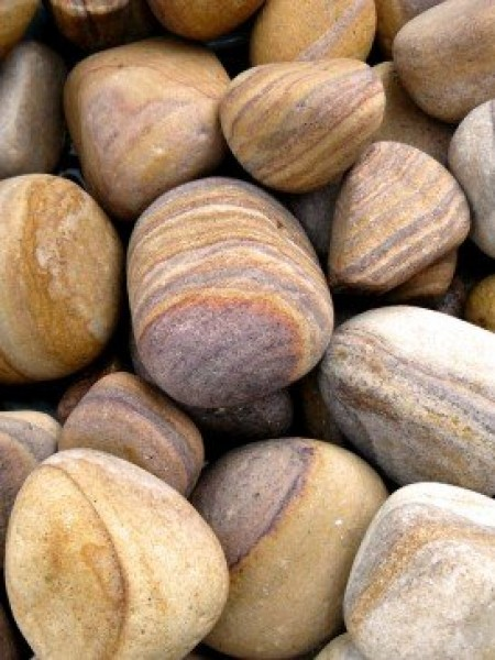 40kg Rainbow Sandstone Tumbled Pebbles 100mm - 150mm