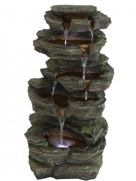 Solar Slate Falls Water Feature