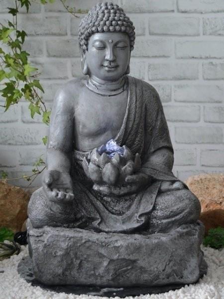 Solar Lotus Zen Water Feature